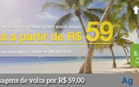 Promoção de passagens aéreas Azul com volta por R$ 59,00